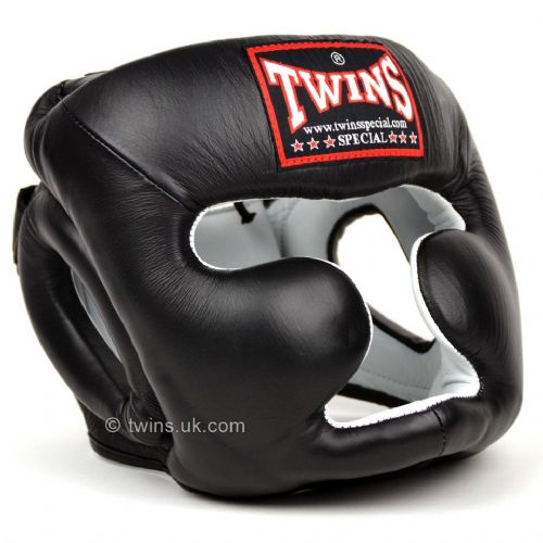 Twins HGL-3 Sparring Full Face Head Guard - Black
